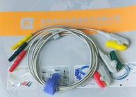 Din Style IEC Safety 3 Leads ECG Monitor Cable And Leadwires Compatible All Brand
