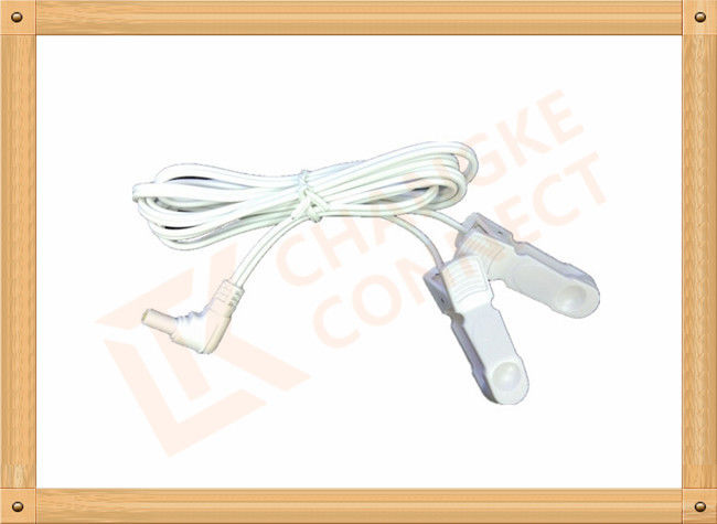 Surgical DC 2.35mm Tens Unit Replacement Leads Wire To Clip 3m