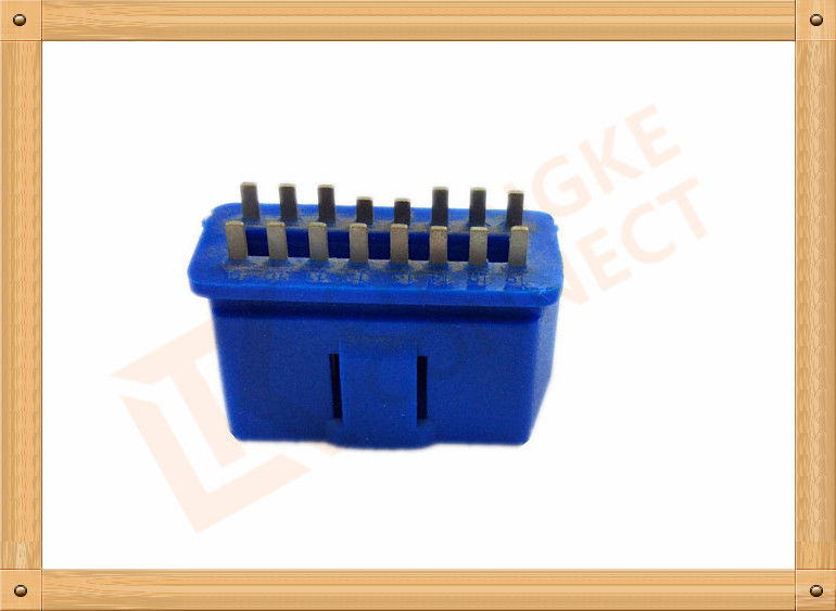 PVC BLUE OBDII 16 Pin Male OBD Diagnostic Connector CK-SOM002B