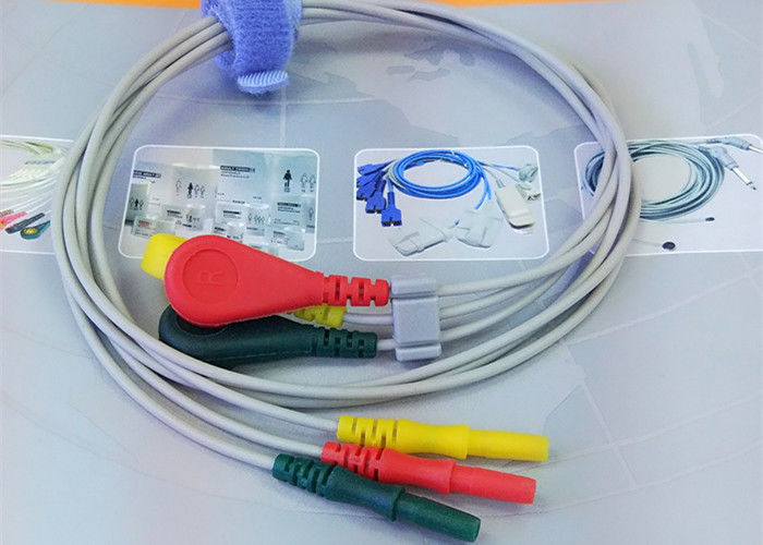 Patient ECG Monitor Cable 3 Color Alligator clip electrodes Needle Electrode